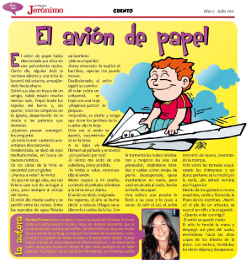 el avion de papel